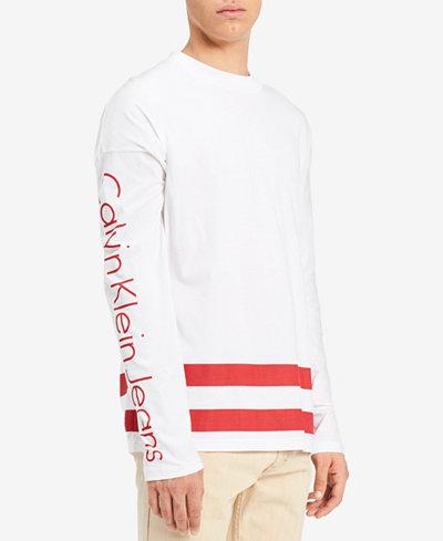 Calvin Klein Jeans Men's Long-Sleeve Graphic-Print T-Shirt