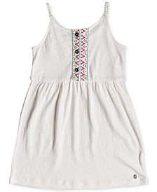 Roxy Embroidered Cotton Sun Dress, Toddler Girls