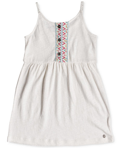 Roxy Embroidered Cotton Sun Dress, Little & Big Girls