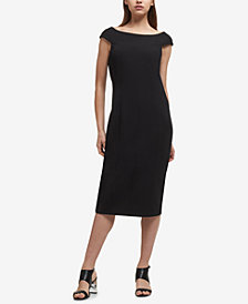 DKNY Seamed Boat-Neck Midi Dress, Created for Macy's