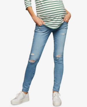Image of Ag Jeans Maternity Distressed Skinny Jeans