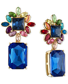 RACHEL Rachel Roy Gold-Tone Multi-Stone Cluster Drop Earrings