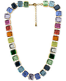 "RACHEL Rachel Roy Gold-Tone Stone Collar Necklace, 15"" + 2"" extender"