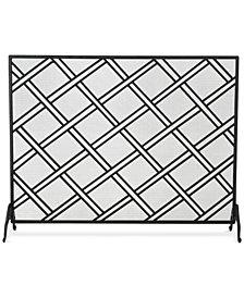 Single Panel Iron Fireplace Screen, Quick Ship