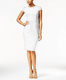 Puff-Sleeve Scuba Dress, Created for Macy's