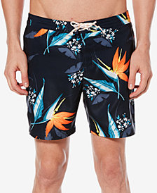 "Original Penguin Men's Tropical-Print 6"" Swim Trunks"