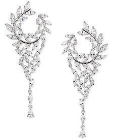 "Nina Crystal Hoop 2-1/2"" Chandelier Earrings"