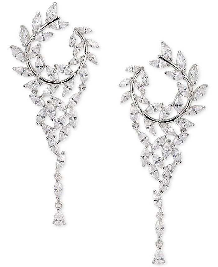Nina - Cubic Zirconial Hoop Chandelier Earrings