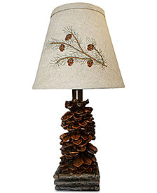 AHS Lighting Pine Cone Accent Lamp
