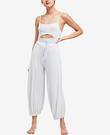 Free People FP Movement Cutout Contrast Jumpsuit