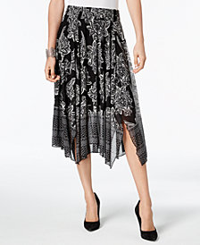 JM Collection Printed Mesh Skirt, Created for Macy's