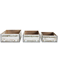 """Greenfield Dairy"" Boxes Décor, Set of 3"