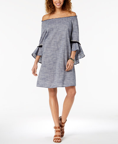 Style & Co Cotton Off-The-Shoulder Dress, Created for Macy's