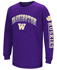 Colosseum Washington Huskies Grandstand Long Sleeve T-Shirt, Big Boys (8-20)