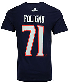 adidas Men's Nick Foligno Columbus Blue Jackets Silver Player T-Shirt
