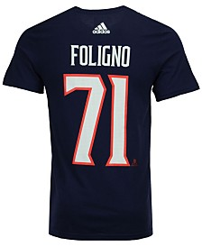 adidas Men's Nick Foligno Columbus Blue Jackets Silver Player T-Shirt