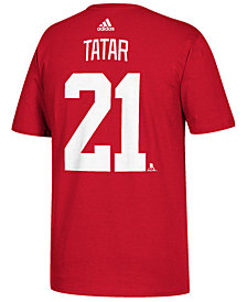 adidas Men's Tomas Tatar Detroit Red Wings Silver Player T-Shirt