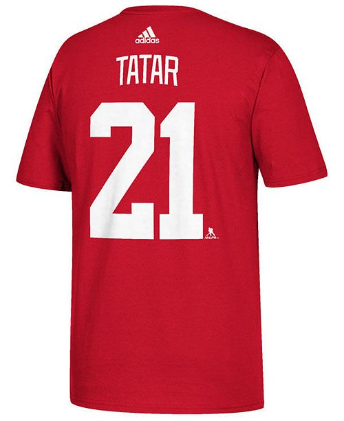 sale retailer f5cb6 c6e3f adidas Men's Tomas Tatar Detroit Red Wings Silver Player T ...