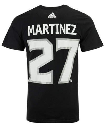 adidas Men's Alec Martinez Los Angeles Kings Silver Player T-Shirt