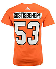 adidas Men's Shayne Gostisbehere Philadelphia Flyers Silver Player T-Shirt