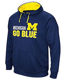 Colosseum Men's Michigan Wolverines Stack Performance Hoodie