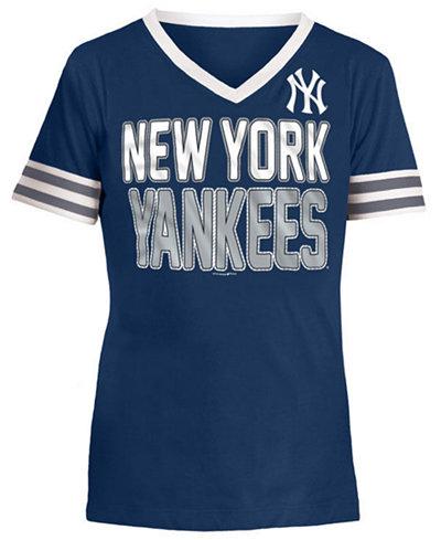 5th & Ocean New York Yankees Rhinestone T-Shirt, Girls (4-16)