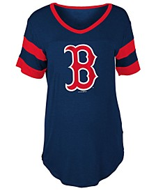 Women's Boston Red Sox Sleeve Stripe Relax T-Shirt