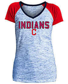 5th & Ocean Women's Cleveland Indians Space Dye Stone T-Shirt