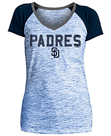 5th & Ocean Women's San Diego Padres Space Dye Stone T-Shirt