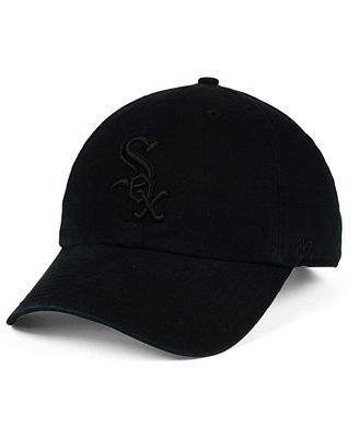 '47 Brand Chicago White Sox Black on Black CLEAN UP Cap