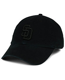 '47 Brand San Diego Padres Black on Black CLEAN UP Cap