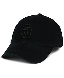 '47 Brand San Diego Padres Black on Black CLEAN UP Cap