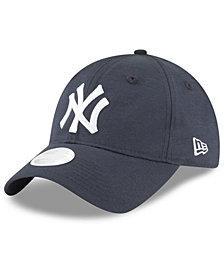 New Era New York Yankees Team Linen 9TWENTY Strapback Cap