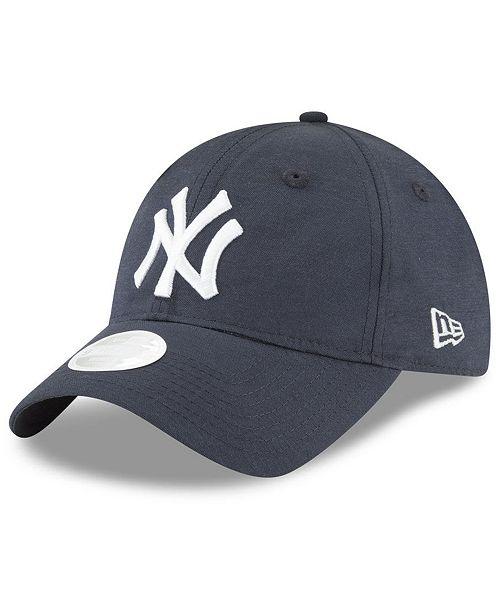 the best attitude 34db9 de5a4 New Era New York Yankees Team Linen 9TWENTY Strapback Cap ...