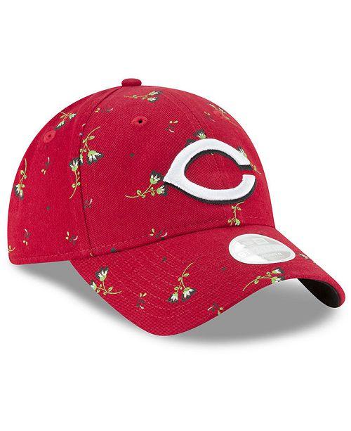 online store 013ba ff135 ... New Era Cincinnati Reds Blossom 9TWENTY Strapback Cap ...