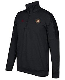 adidas Men's Atlanta United FC Logo Set Quarter-Zip Fleece Pullover