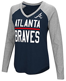 G-III Sports Women's Atlanta Braves Power Hitter Raglan T-Shirt