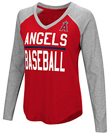 G-III Sports Women's Los Angeles Angels Power Hitter Raglan T-Shirt