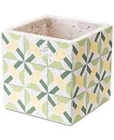 Zuo Cement Flower Planter  Green & Yellow