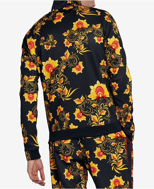 df0f9ff03e Nike Men s Russian-Floral Inspired Track Jacket   Reviews - Coats ...