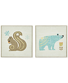 INK+IVY Kids Woodland Bear & Squirrel 2-Pc. Deco Box Wall Art Set