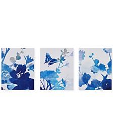 Madison Park Cobalt Garden 3-Pc. Gel-Coated Canvas Print Set