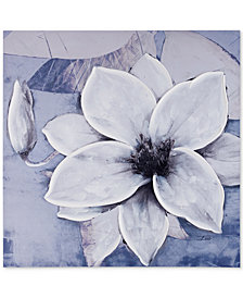 Madison Park Dusty Bloom Gray Hand-Embellished Canvas Print