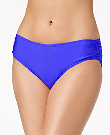 Calvin Klein Shirred Hipster Bikini Bottoms