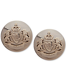 Lauren Ralph Lauren Gold-Tone Crest Button Clip-on Earrings