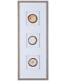 Madison Park Natural Agate Stone Trio Framed Wall Art