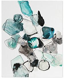 Urban Habitat River Rocks Blue Gel-Coated Canvas Print
