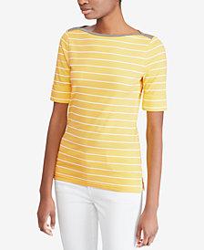 Lauren Ralph Lauren Petite Striped Top