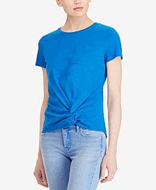 Lauren Ralph Lauren Twist-Front T-Shirt