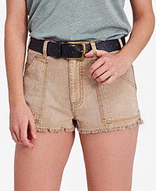 Free People Get Far Cotton Cutoff Denim Shorts